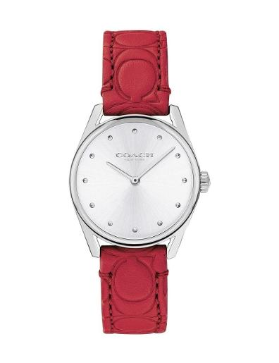 Coach Women's Preston White Dial Red Leather Watch. 14503209