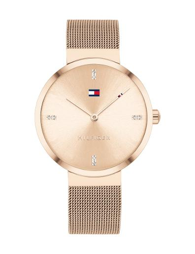 Tommy Hilfiger Women's Liberty Rose Gold Dial Rose Gold Stainless Steel Watch. 1782218