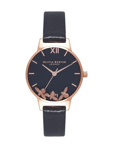 Olivia Burton Women's Busy Bees Black & Rose Gold OB16CH06