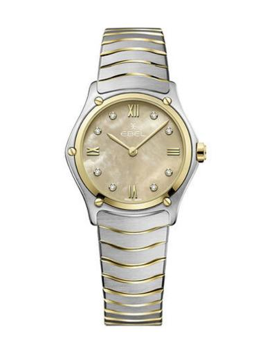 Ebel Women's Sport Classic Beige Mother of Pearl Dial Two Tone Stainless Steel Watch. 1216488A