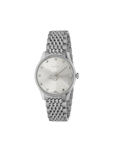 Gucci  Mens's G-TIMELESS Silver Dial Silver Stainless Steel Watch.  YA1264153