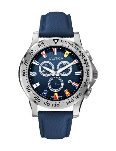 Nautica Men's NST 600 Chrono Flag A19597G