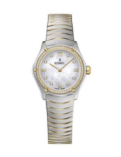 Ebel Women's Sport Classic Mini Mother of Pearl Dial Two Tone Stainless Steel Watch. 1216412A