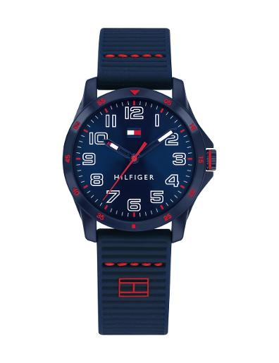 Tommy Hilfiger Kids Blue Dial Blue Silicon Watch. 1791667
