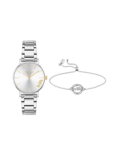 Coach Women's Perry Silver Dial Silver Stainless Steel Watch. 14000064