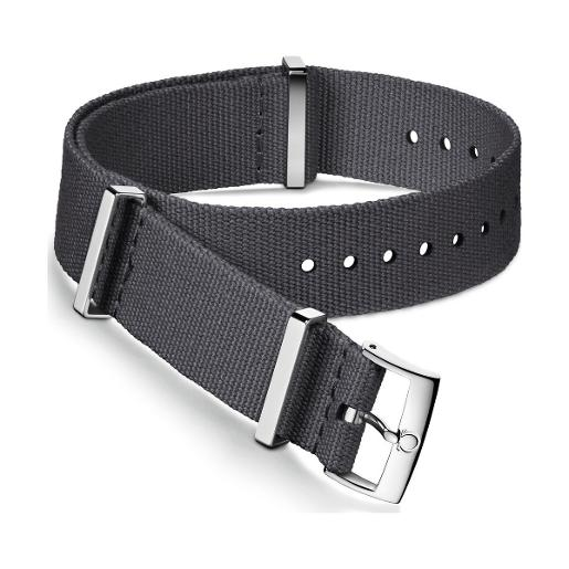 OMEGA Grey polyester strap. Size: 21-22 MM 031CWZ007568