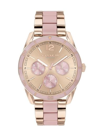 Coach Women's Preston Rosegold Dial Multi Stainless Steel Watch. 14503467