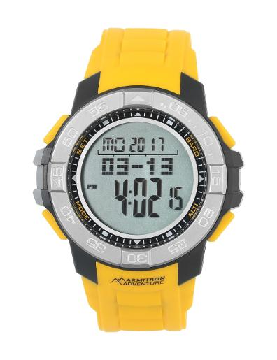 Armitron Men's Armitron Adventure Silicon 1011YLW