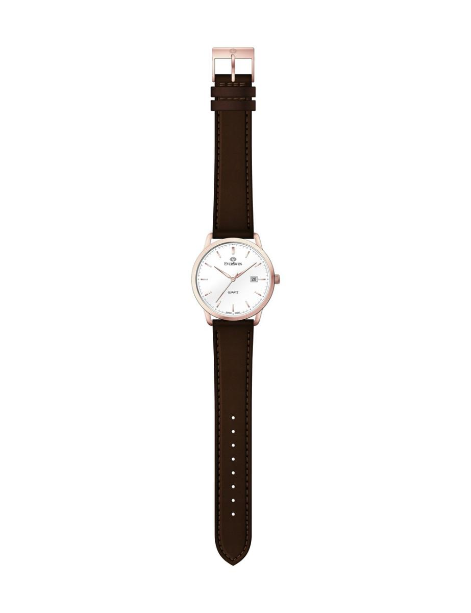 Everswiss  Men's Leather Pair White Dial Brown Leather Watch.  1698-GLRW