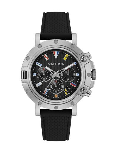 Nautica Men's Nst 800 Chrono Flags NAD17527G