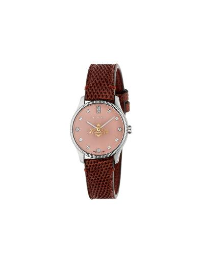 Gucci  Women's G-TIMELESS Pink Dial Pink Stainless Steel  Watch.  YA1265017