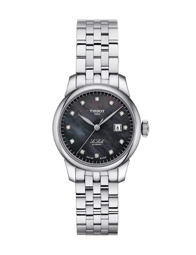 Tissot  Women Classic Stainless steel Round Black Dial Mechanical Watch  T006.207.11.126.00