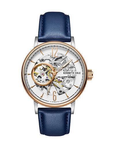 Kenneth Cole Women's Automatic White Dial with Blue Leather Watch KC51120001