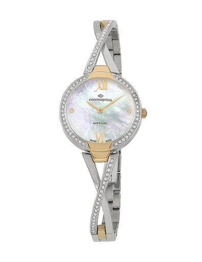 Continental Women's Classic Mother of Pearl Dial Bicolor (Yellow Gold / Steel) Metal Watch. 16601-LT312531