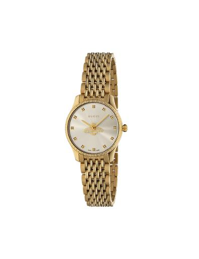 Gucci  Women's G-TIMELESS Silver Dial Gold Stainless Steel with Gold PVD Watch.  YA1265021