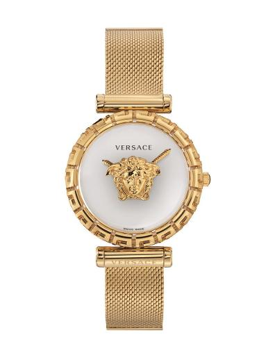 Versace Women's PALAZZO EMPIRE GRECA White Dial Gold Stainless Steel Watch. VEDV00619