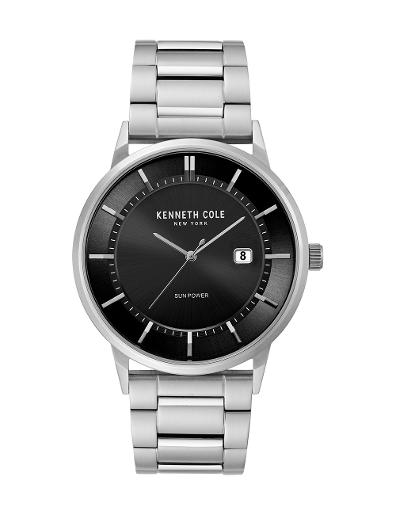 Kenneth Cole Men's Classic Black Dial with Silver Steel Watch KC50784006