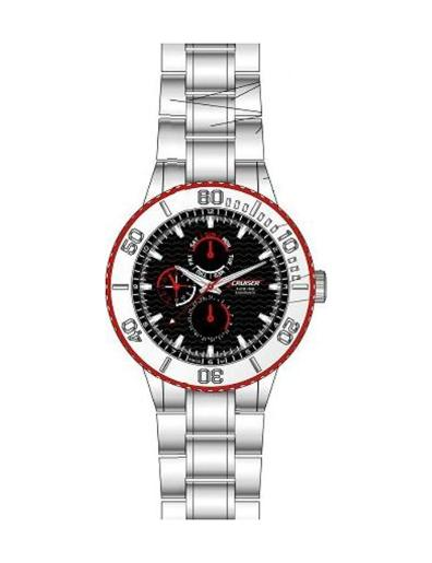 Cruiser Men's Silicon Strap Multifunction C8572-GSBB
