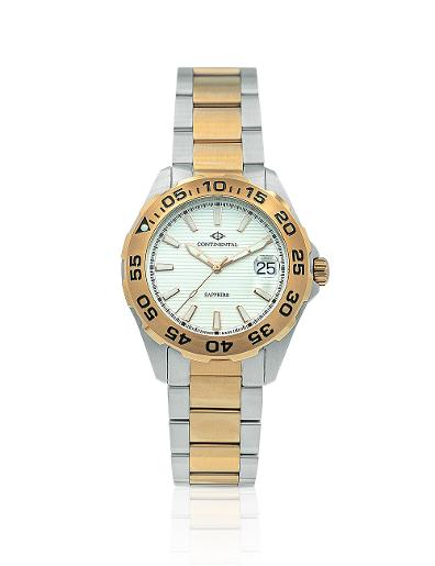 Continental Men's Classic Silver Dial Bicolor (Ros Gold / Steel) Metal Watch 20501-GD815130