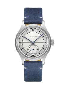 Longines  Men's HERITAGE CLASSIC White Dial Blue Leather Watch.  L28284732