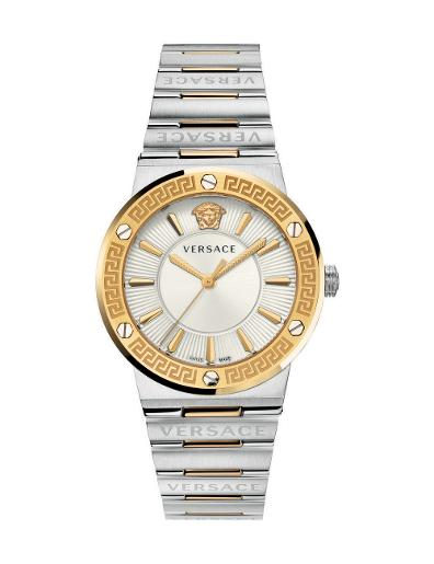 Versace Women's GRECA LOGO White Dial Silver stainless steel Watch. VEVH00620