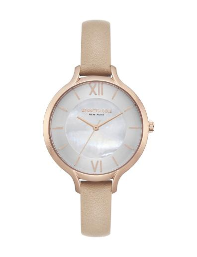 Kenneth cole Women's Classic Grey Dial Pink Leather Watch. KC15187006