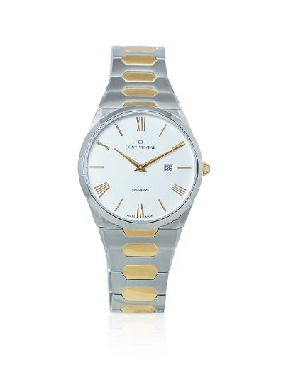 Continental Men's Classic Silver Dial Bicolor (Yellow Gold / Steel) Metal Watch. 18601-GD312110
