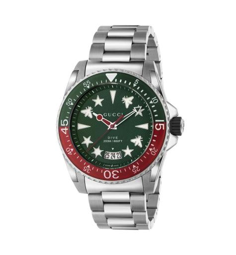 Mens's DIVE Multi-colored Dial Silver Stainless Steel Watch.  YA136222