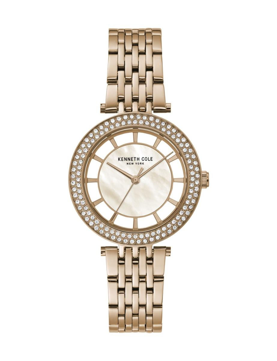 Kenneth Cole  Women's Transparency White Dial Rose Gold Leather Watch.  KC51130002