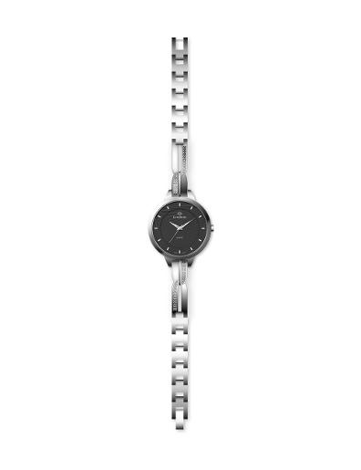 Everswiss Women's Ladies Fancy  Black Dial Stainless Steel Brass Watch. 2804-LSB