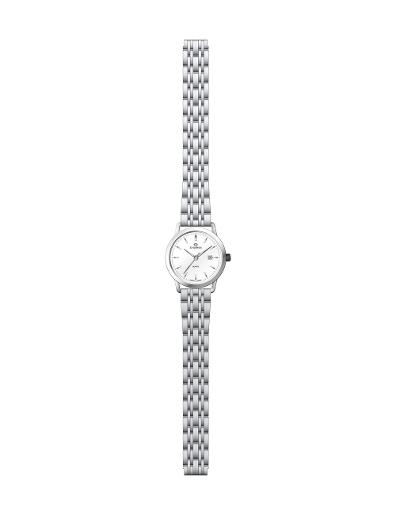 Everswiss Women's Metal Solid Band Pair White Dial Stainless Steel Stainless Steel Watch. 1698-LSW