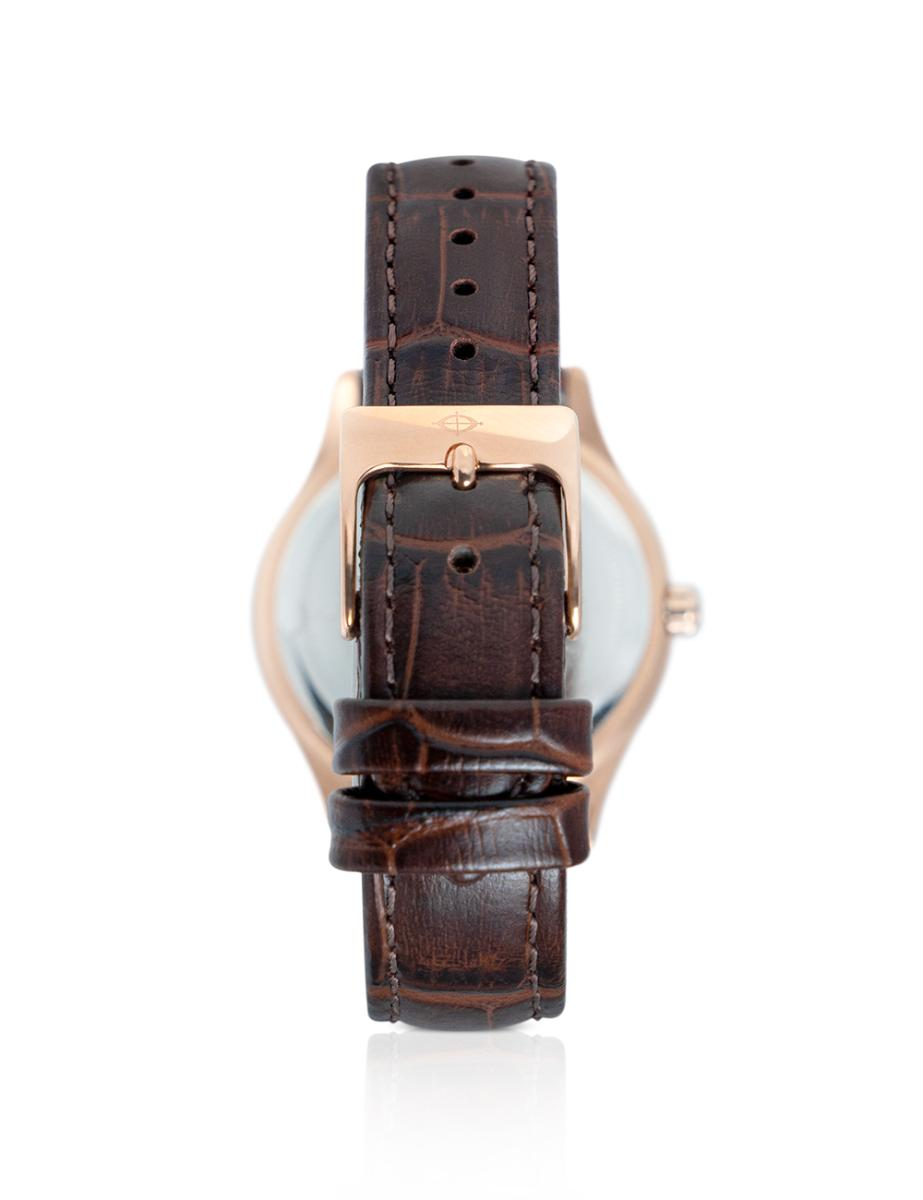 Continental  Women's SPECIAL- RG LEATHER Silver/ MOP Dial Brown Leather Watch.  16105-LM556511