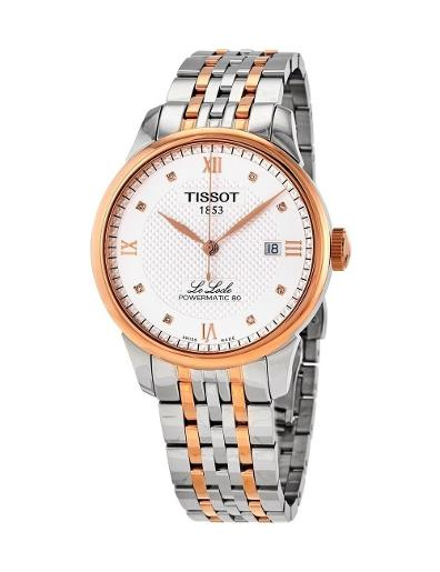 Tissot  Men's Classic SILVER Dial Grey Rose Gold Stainless steel Watch.  T006.407.22.036.00