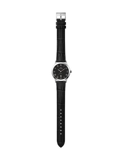 Everswiss Women's Leather Pair Black Dial Black Leather Watch. 1701-LZB
