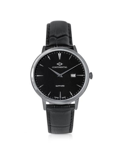 Continental Men's Classic Black Dial Black Leather Watch. 19603-GD154430