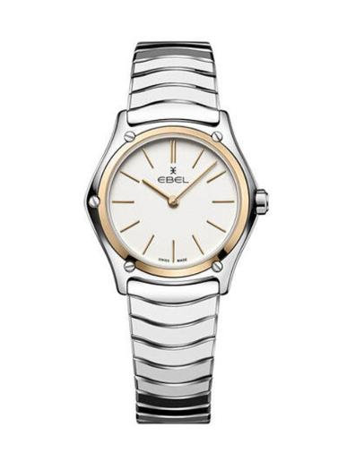 Ebel Women's Sport Classic White Dial Two Tone Stainless Steel Watch. 1216450A
