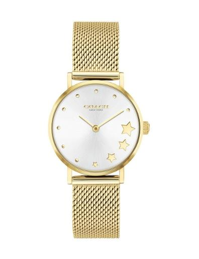 Coach Women's Perry Silver Dial Gold Stainless Steel Watch. 14503521