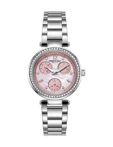 Kenneth cole Women's Classic Pink Dial Silver Stainless Steel Watch. KC51065008
