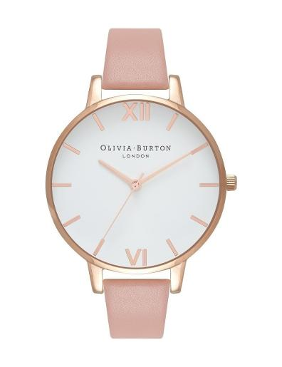Olivia Burton Women's White Dial Big Dial Watch OB16BDW25