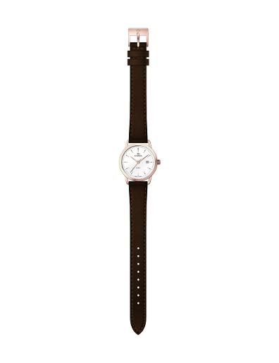 Everswiss Women's Leather Pair White Dial Brown Leather Watch. 1698-LLRW
