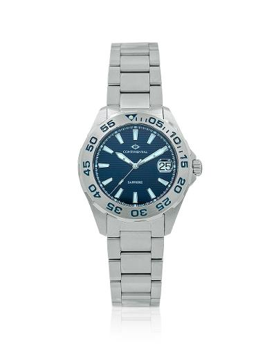 Continental Men's Classic Blue Dial Steel Metal Watch 20501-GD101830
