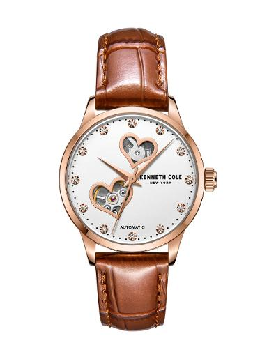 Kenneth cole Women's Automatic White Dial Brown Stainless Steel Watch. KC50984023