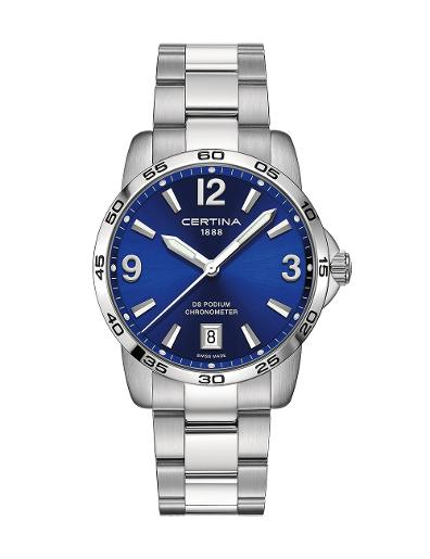 Certina Men's DS Podium Blue Dial Silver Stainless Steel Watch. C034.451.11.047.00