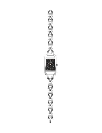 Everswiss Women's Ladies Fancy  Black Dial Stainless Steel Stainless Steel Watch. 1697-LSB