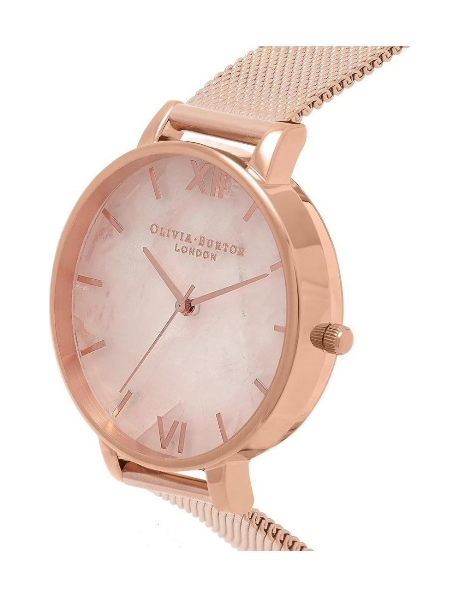Women's Semi Precious Rose Gold Mesh Watch