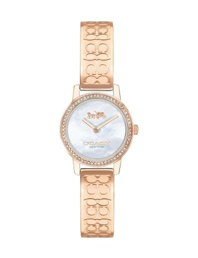 Coach Women's Audrey Silver Dial Rosegold Stainless Steel Watch. 14503498