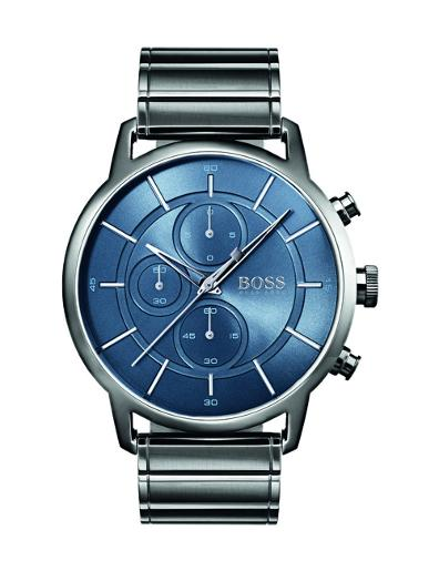 Hugo Boss Men's ARCHITECTURAL Blue Dial Grey Stainless SteelWatch 1513574