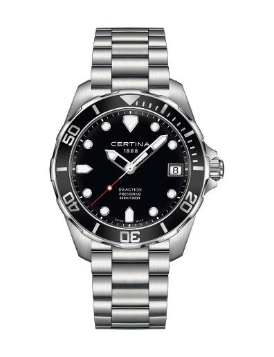 Certina Men's Aqua Black Dial Stainless steel Stainless steel Watch C032.410.11.051.00