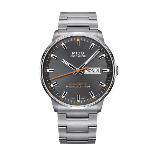 Mido  MEN's Commander II Anthracite Dial Silver Stainless Steel Watch.  M021.431.11.061.01