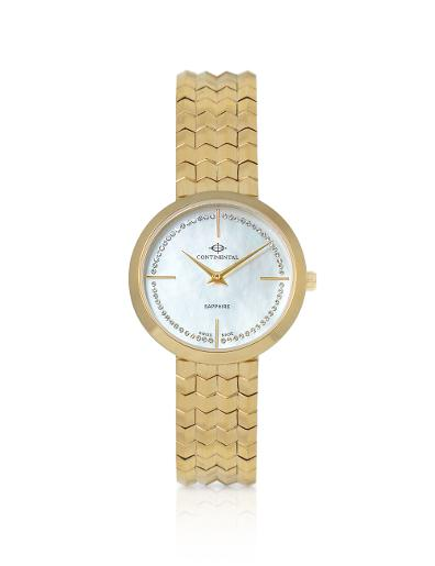 Continental Women's Classic Mother of Pearl Dial Yellow Gold Metal Watch. 19602-LT202500
